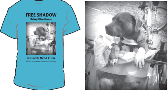 TEE SHIRT FOR SHADOW'S COURT HEARING